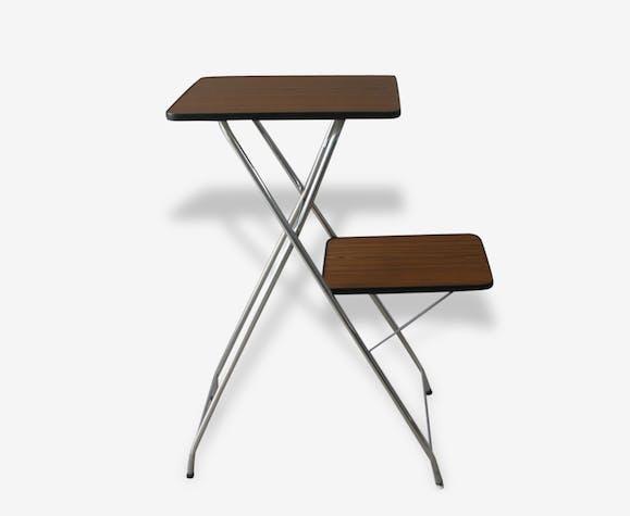 pliante 2 formica plateaux Table chromes haute pieds vintage 70 KlJuTF1c3