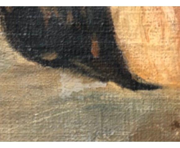 Portrait à l'huile sur toil Homme à la cithare