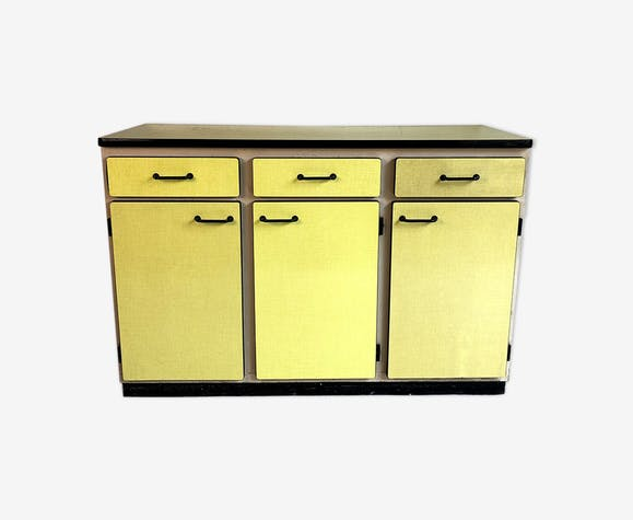 Vintage yellow formica buffet 60