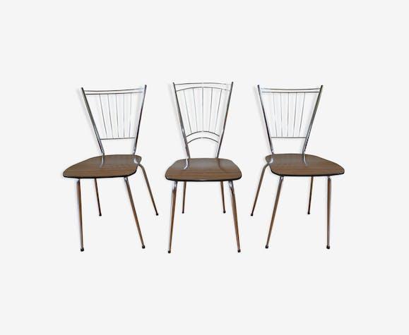 Lot de 3 chaises en formica