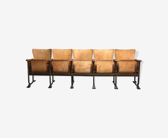 Anciens fauteuils strapontin de théâtre ou cinéma 1940