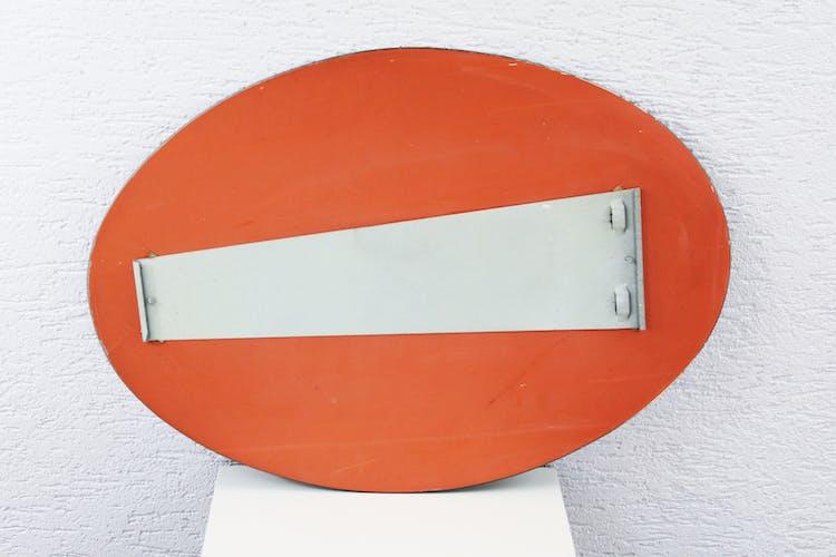 Miroir ovale années 50