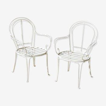 Paire de fauteuils extérieur années 50
