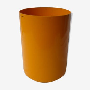 60s orange office paper basket