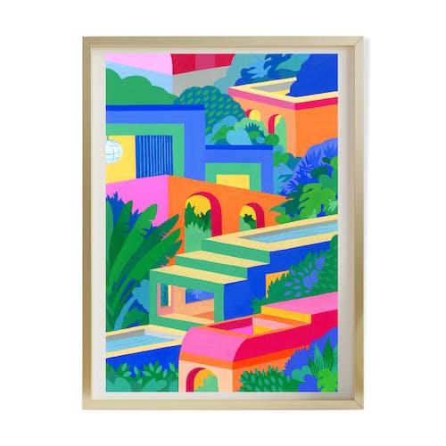 Illustration A4 Maisons - Riso