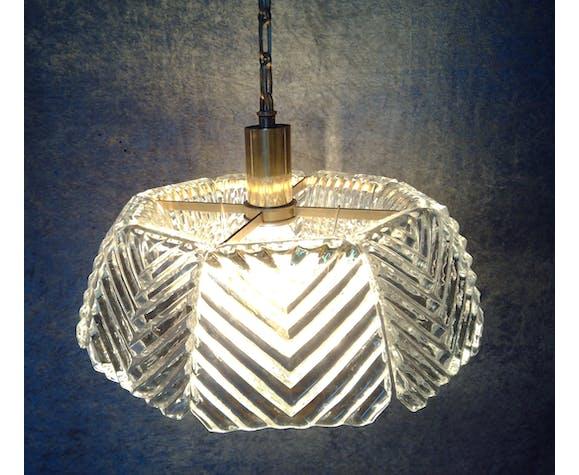 Pendentif en verre de cristal de Carl Fagerlund pour Orrefors des années 1960