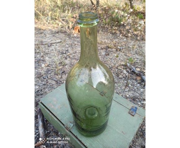 Bouteille ancienne en verre soufflé | Selency