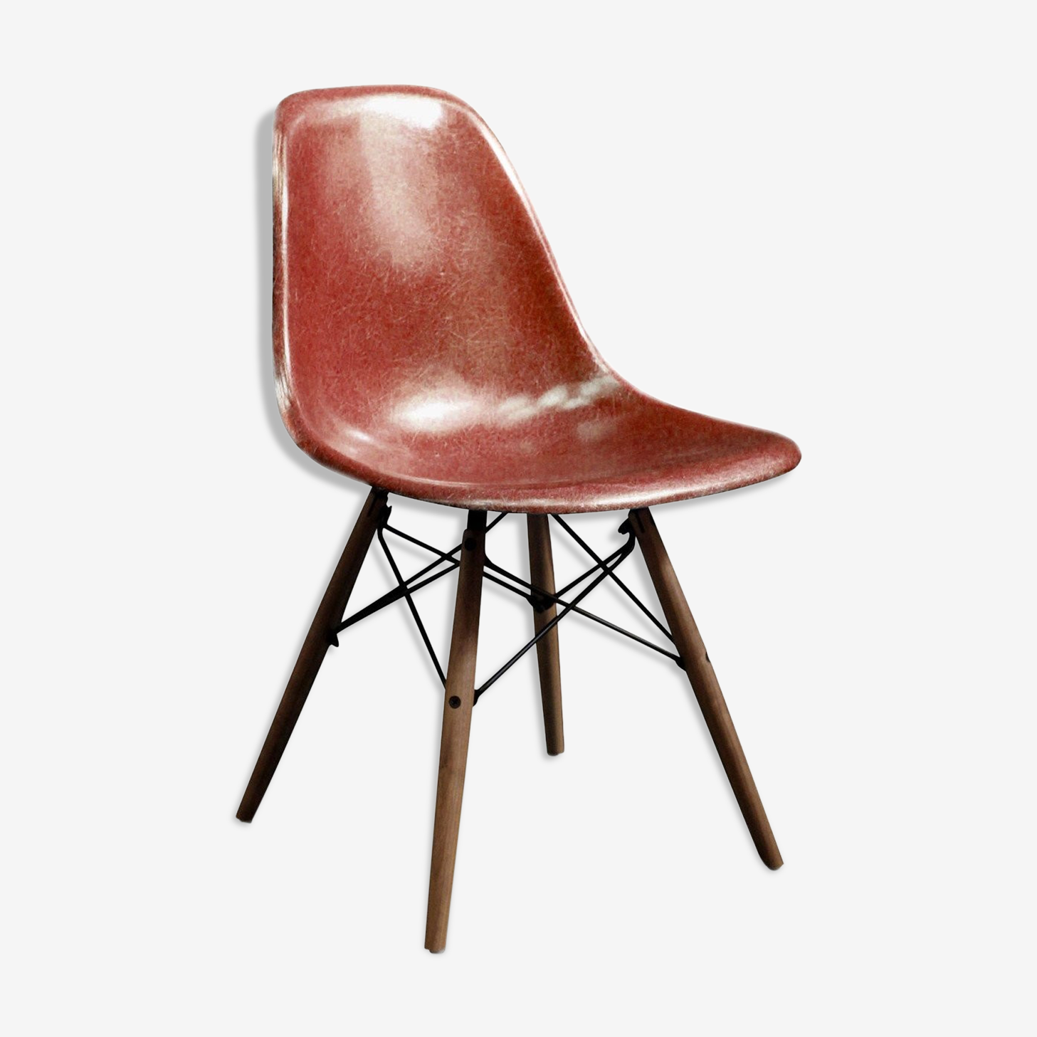 "Chair Eames DSW ""terracotta"" Herman Miller 1970 edition"