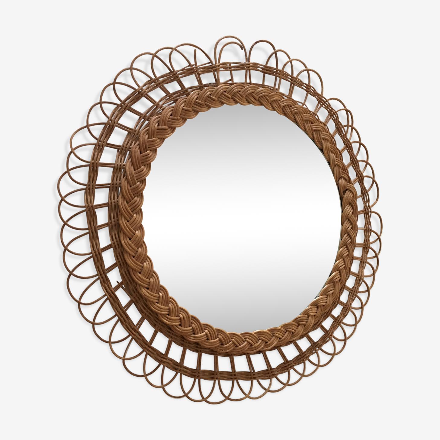Former Sun braided rattan 40 cm mirror