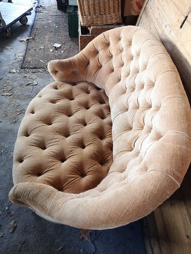 Canapé 2 places en velours
