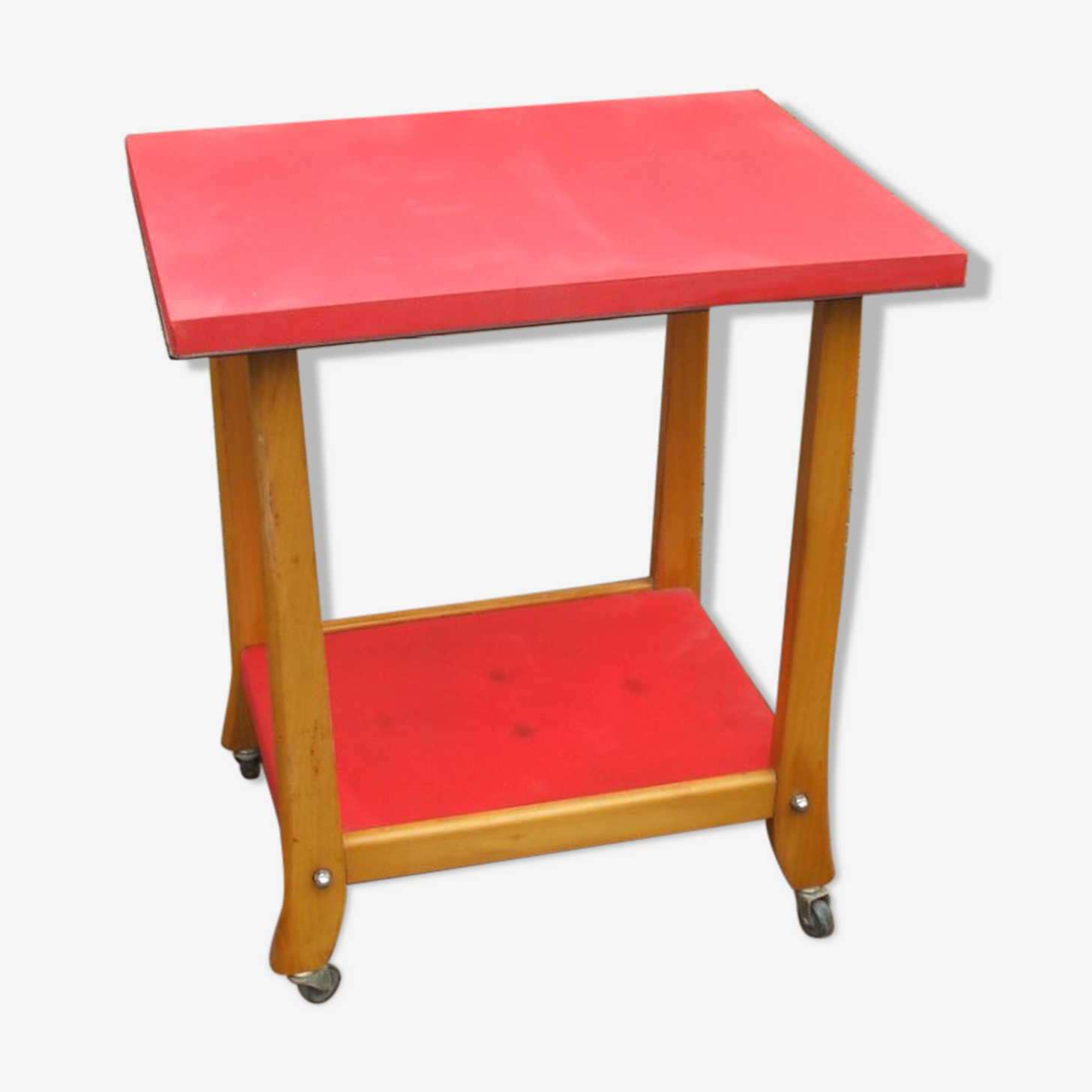 kitchen trolley years 50 / 60 Red