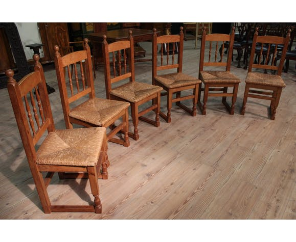 Set of 6 chairs of campaign