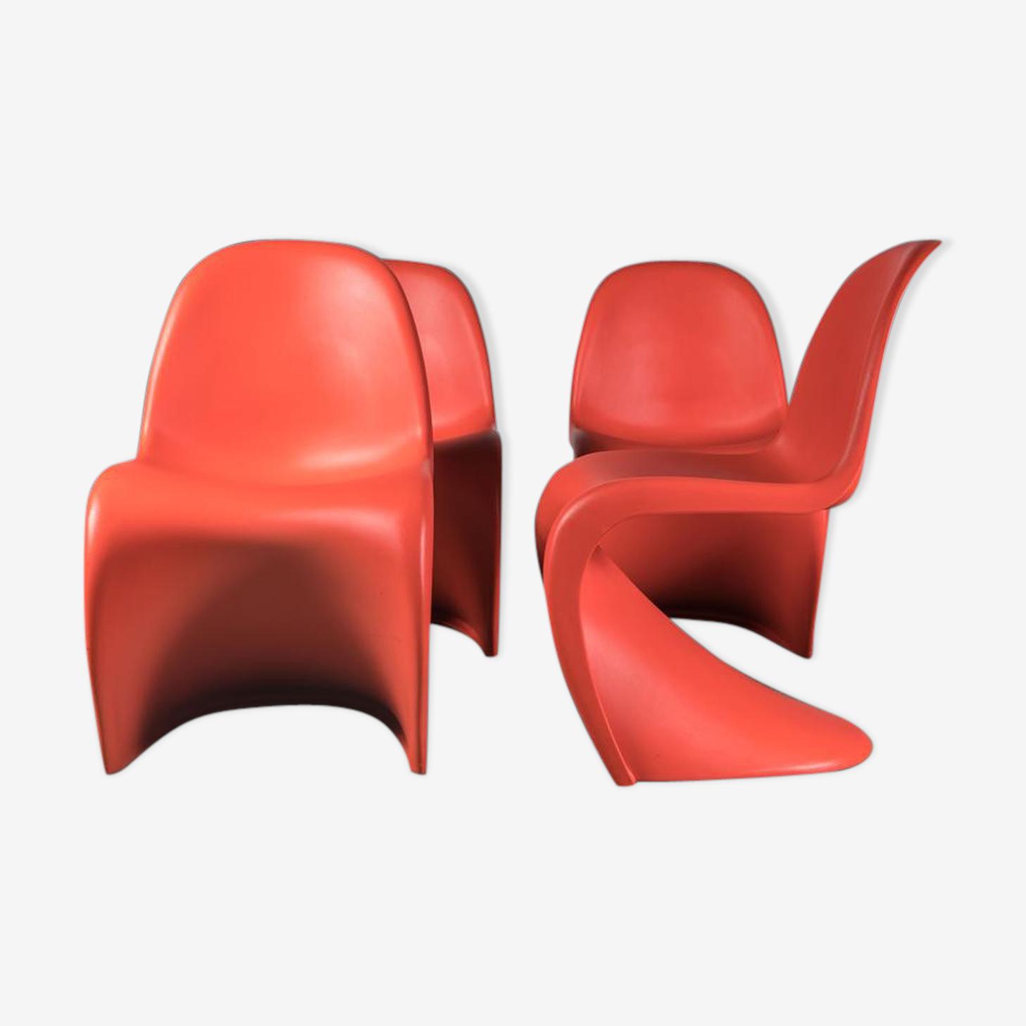 Set of 4 chairs Verner Panton S of origin
