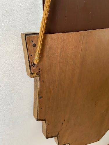 Miroir au mercure biseauté 77 x 48 cm