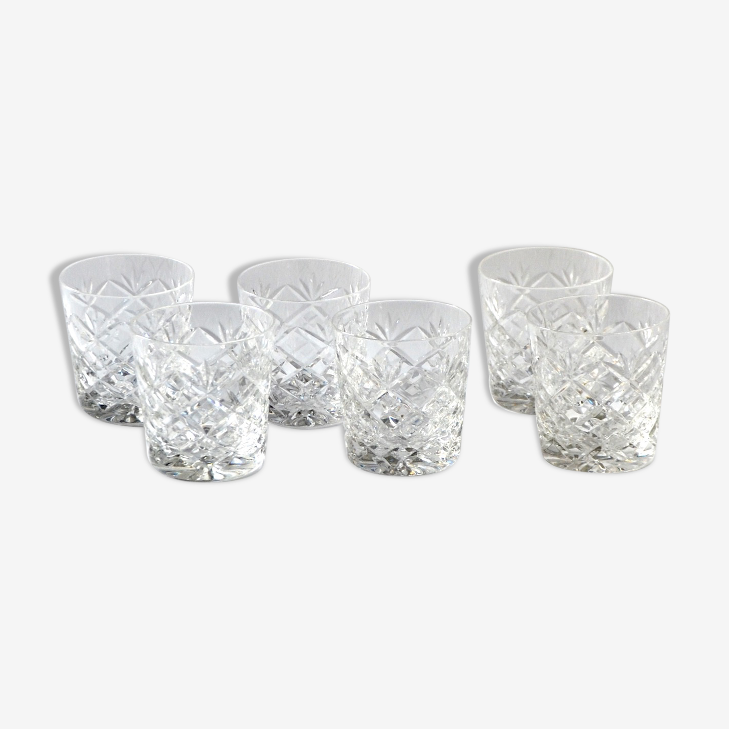 6 cut Crystal whisky glasses