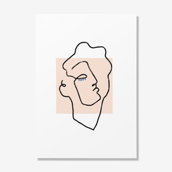 Poster A3-Apollo beige-29.7 cm x 42 cm