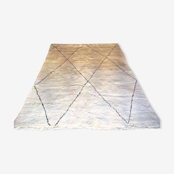 Moroccan carpet style beniouarain 100% wool 135 x 300