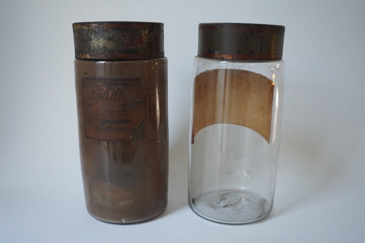 Pair of apothecary bottles