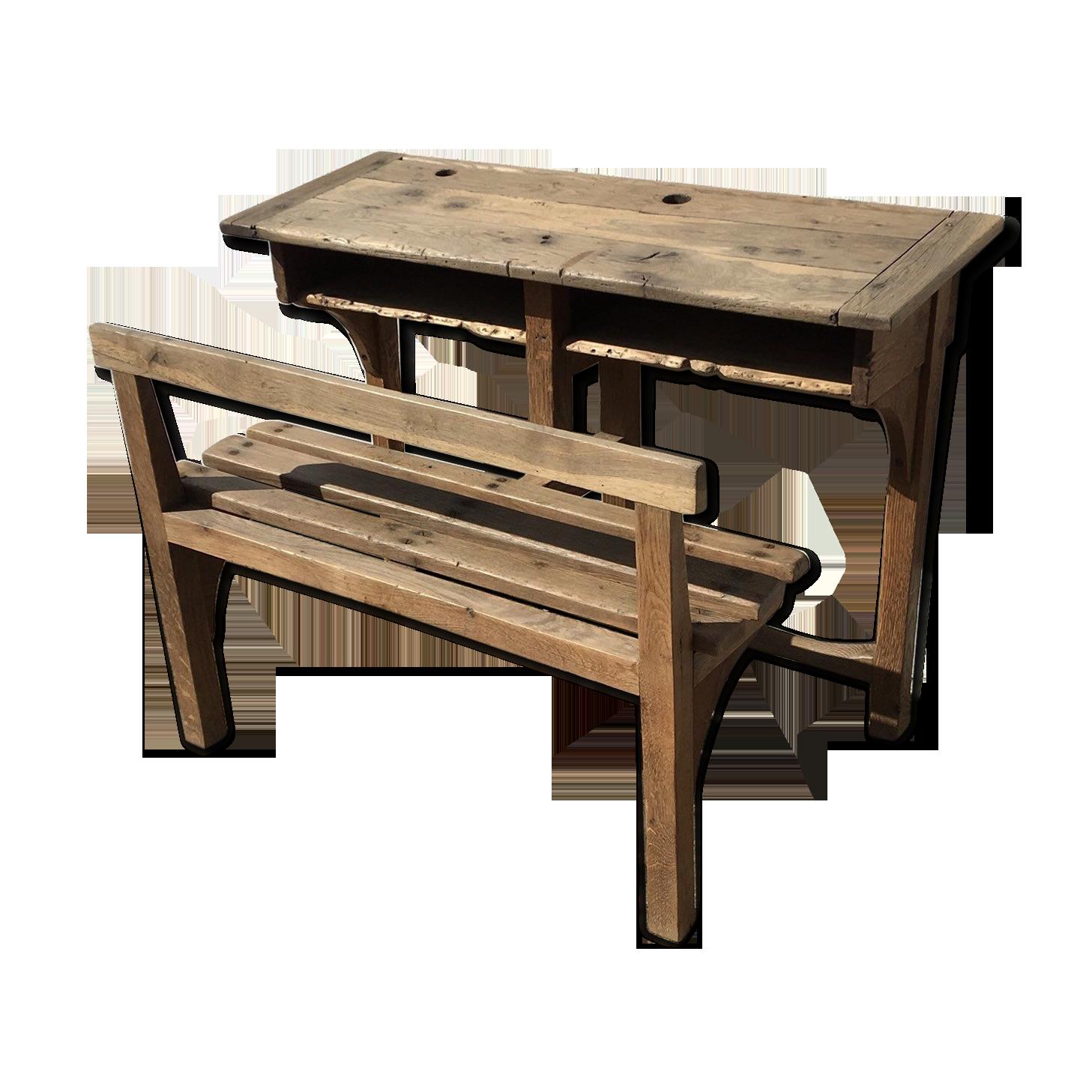 Bureau d Écolier pour enfant vintage et set de chaises par willy