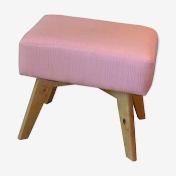 tabouret pouf ottoman de couleur rose vintage d 39 occasion. Black Bedroom Furniture Sets. Home Design Ideas
