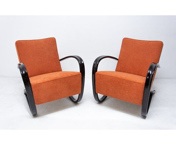 Pair of Lounge armchairs H-269 by Jindřich Halabala for UP ZAVODY, 1930´s