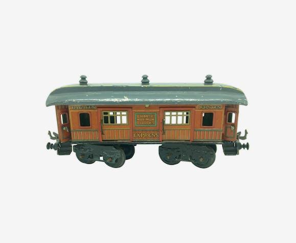 Train wagon express bagages postes en tôle des années 1920-1930