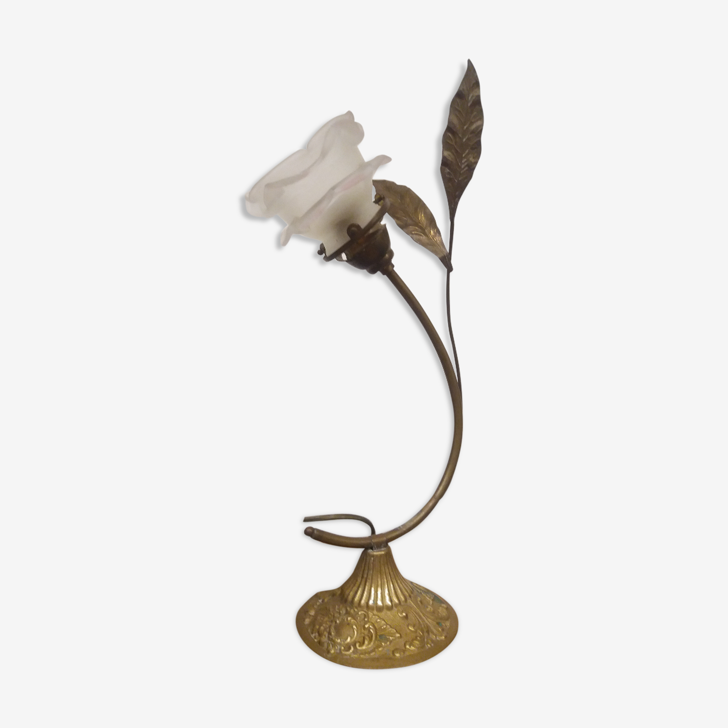 Brass flower lamp