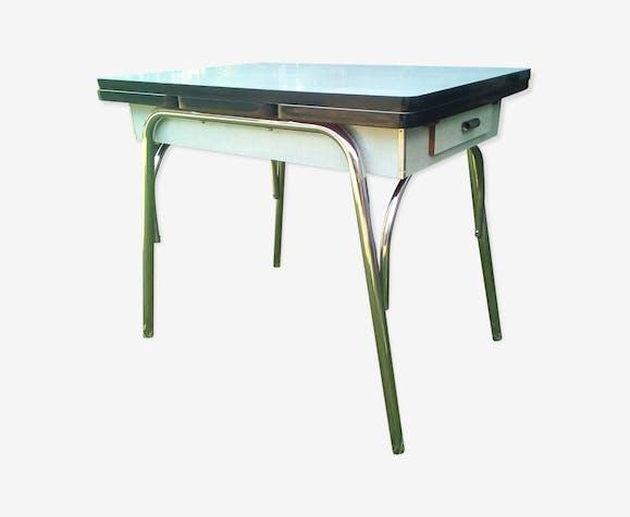 Table de cuisine vert eau - formica - vert - vintage - MuihiMt