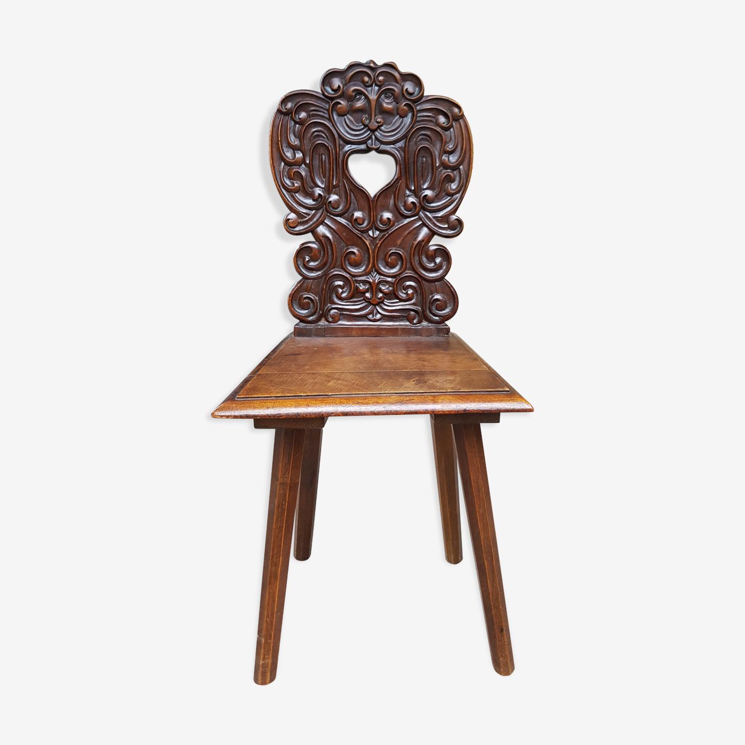 Chaise alsacienne XIXème siècle