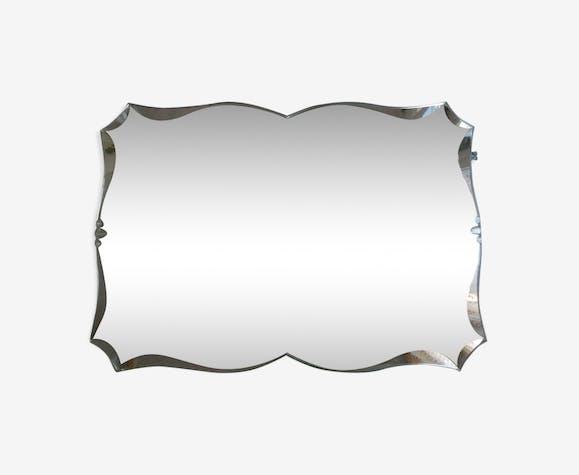 Ancien miroir biseauté art déco 60 x 42 cm