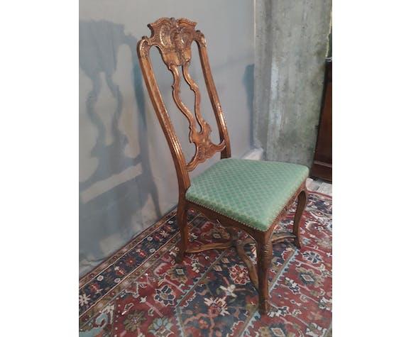 Chaise hollandaise sculpté