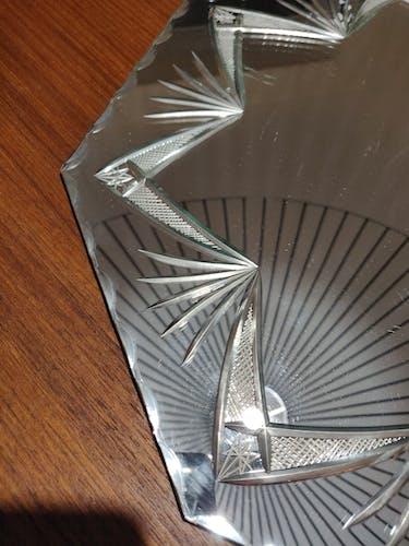 Miroir biseauté octogonal à décor etoilé 40x40cm