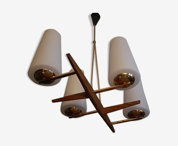 Scandinavian chandelier Maison Lunel 1950/1960