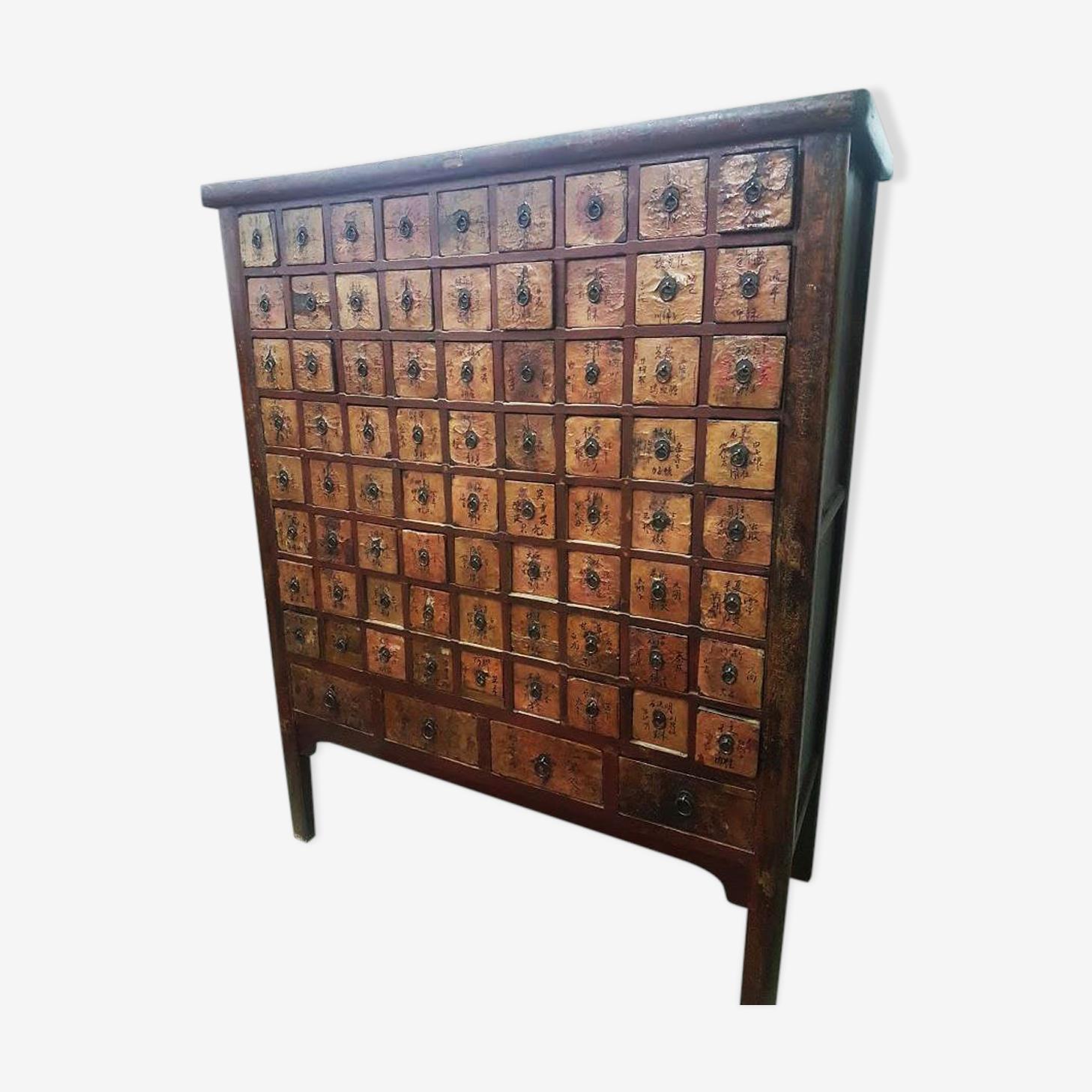 Ancien meuble chinois d'apothicaire 76 tiroirs