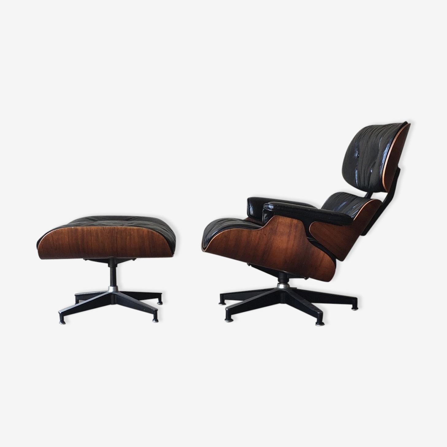 Fauteuil herman miller Eames lounge chair + ottoman