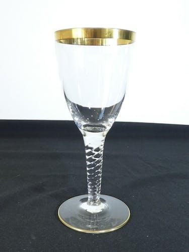 Service de 6 grands verres a eau en cristal XIXeme