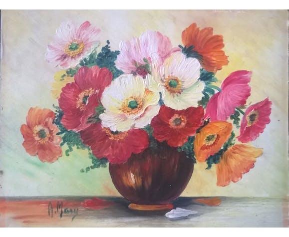 Painting bouquet champètre
