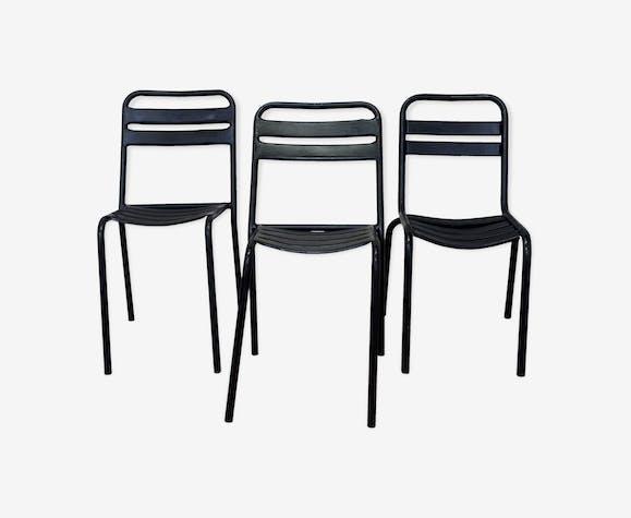 3 Chaises Tolix Noires