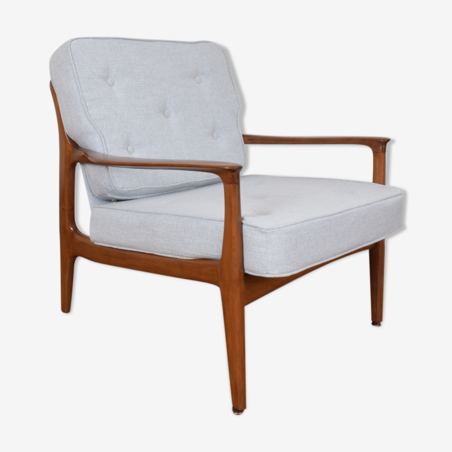 Mid-century teak lounge chair by Eugen Schmidt for Soloform, 1960s