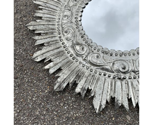 Miroir soleil en fer blanc - 48cm