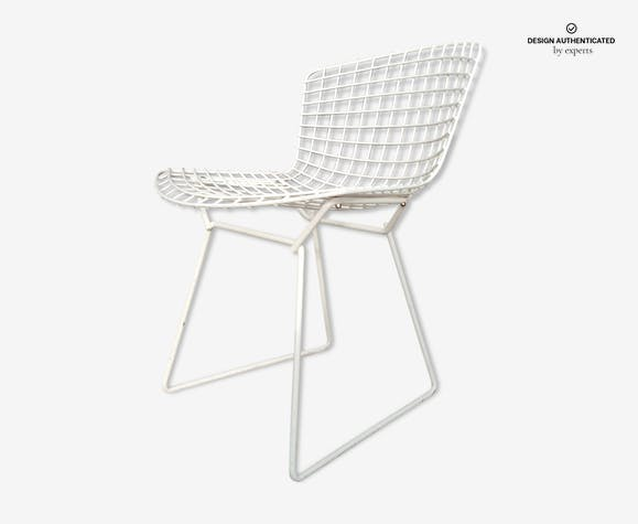 Chaise Bertoia Wire Vintage Années 60 Knoll Metal White Design
