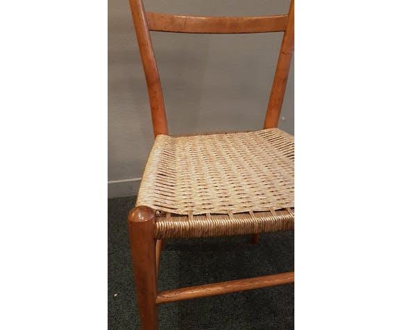 Chaise italienne en cordage tressé | Selency
