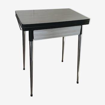 gu ridon tripode ann es 60 formica blanc vintage kwu3zlq. Black Bedroom Furniture Sets. Home Design Ideas