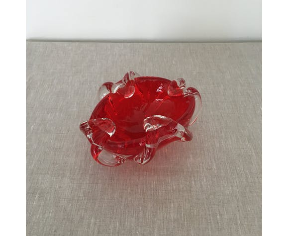 Red Murano ashtray