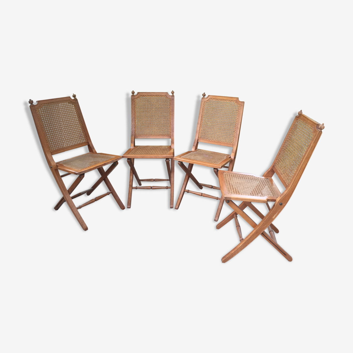 Set of 4 canees folding chairs