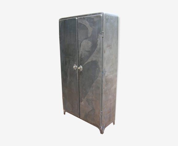 armoire m tal ann es 50 industrielle vintage fer gris. Black Bedroom Furniture Sets. Home Design Ideas