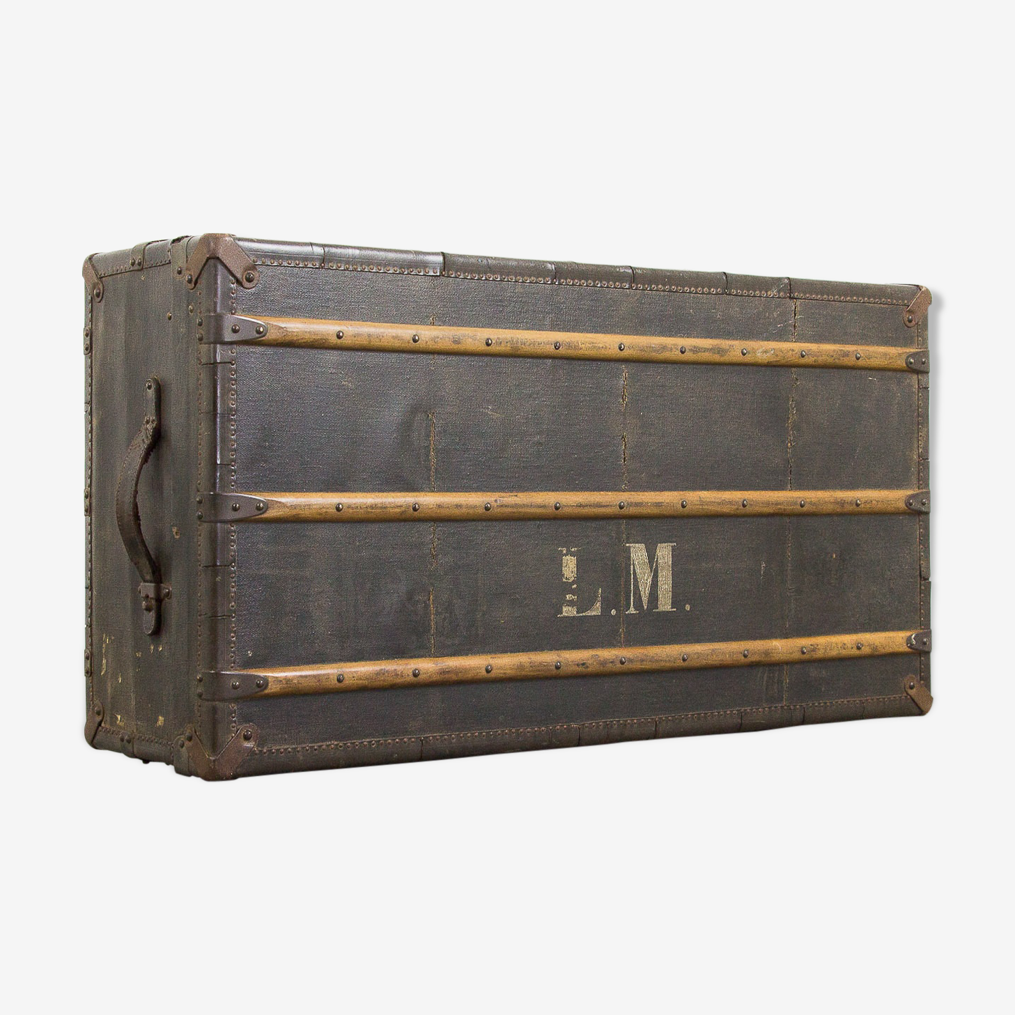Valise de musicien antique «L.M.»