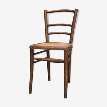 Chair with seating in caning