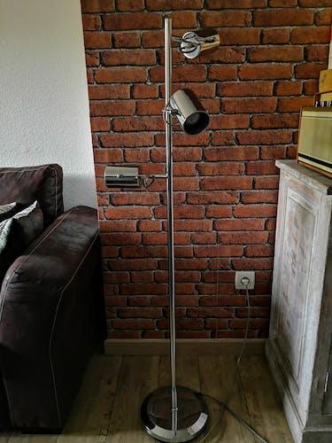 Lampadaire chromé style vintage