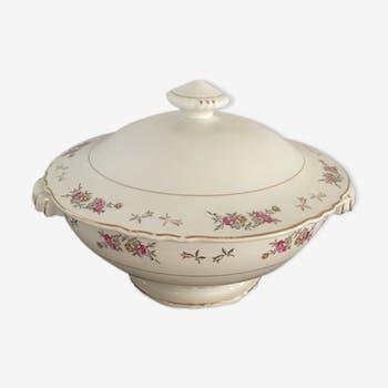 Soupière with flowery porcelain